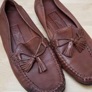 COLE HAAN | BROWN TASSEL LOAFERS, SIZE 8B